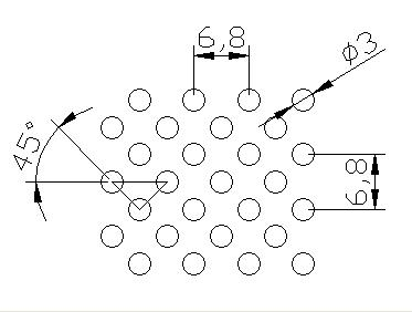 圆形 3x6.8PxD45