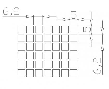 方孔 5x5x6.2PxD90