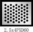圆形 2.5x4PxD60