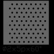 圆形 2x5PxD60