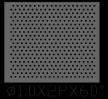 圆形 1x2PxD60