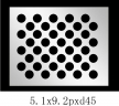 圆形 5.1x9.2PxD45